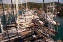 Antigua Yacht Club Marina during the Antigua Charter Show from the crow's nest aboard Marie
