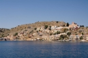 At the entrance to Symi Harbour