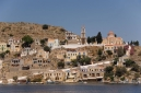 Entering Symi harbour, Gialos,  from the se