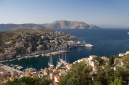 Symi harbour, Gialos, from above