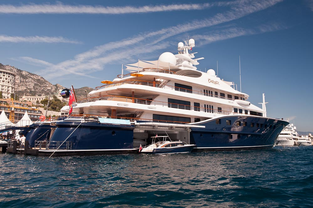 Cakewalk on the dock at the Monaco Yacht Show
