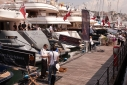 Yachts on the dock at the Genoa Charter Show