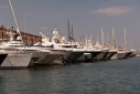 Yachts on the main dock at MolLo Vechio Marina