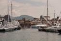 Yachts on the main dock at Mollo Vechio Marina