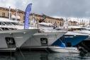 Yachts on the Molo Vecchio Dock. Porto Antico during the Genoa Charter Show