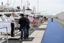 Yachtson the Fiere Dock during the Genoa Charterr Show