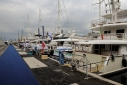 Yachts on the Fiere Dock during the Genoa Charterr Show