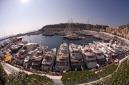 Fisheye, looking down on the Monaco Yacht Show