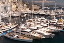 View of Monaco Yacht Show from the crow's nest aboard Marie