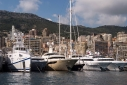 Super yachts at the Monaco Yacht Show