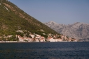 Perast in the Bay of Kotor with the tower of St Nicholas