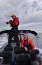 Ignacio and Michael aboard Atmosphere's adventure rib