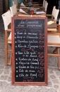 Blckboard menu in Villefranche