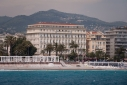 Hotel West End on the Promenade des Anglais and beach from the sea