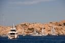 Island of Caprera from Ocean Glory