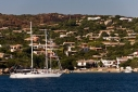 Yachts in Porto Rafael on the island of Spargi