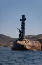 Strange statue off island of San Stefano