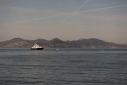 Sea Blue Z entering the anchor in the Iles de Lerins