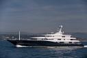 Abeking & Rasmussen's new 78.3 m C2 underway off Cannes