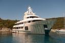 E&E moored stern to Orak Adasi island