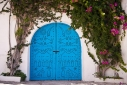 Traditional blue studded door in Sidi Bou Said