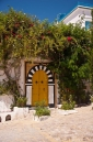 A rebel with a yellow door in Sidi Bou Said