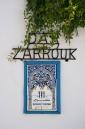 Tourist restaurant sign in Sidi Bou Said