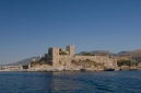 Bodrum Castle, Castle of St Peter from the sea aboard Gulet Sultan A