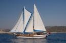 Sultan A under sail