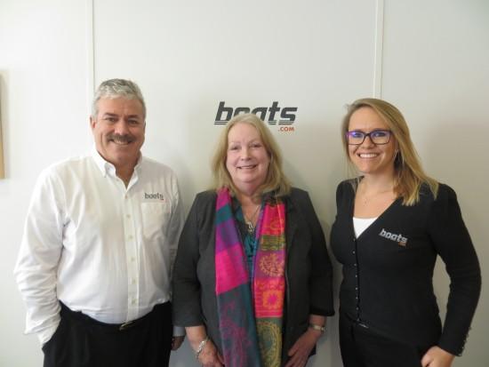 Ian Atkins, President, boats.com, June Hamilton, Secretary Yachting Jour...