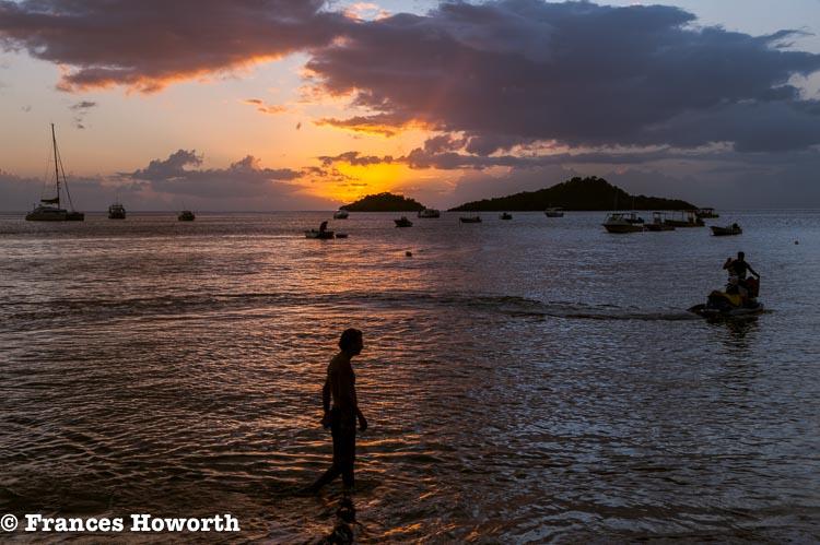 Sunset over Pigeon Island