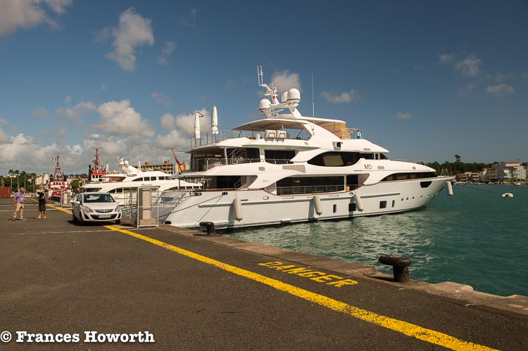 Mr D on the dock at Port Caraibes