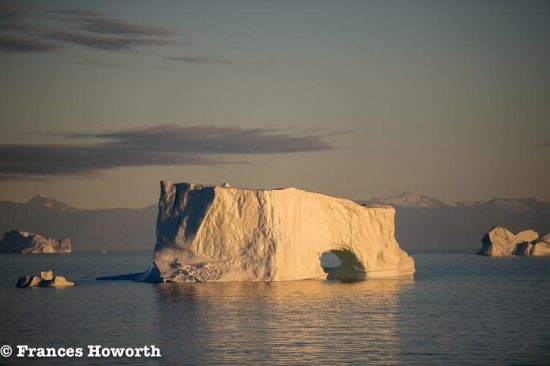 Icebergs off the coast of Greenland from aboard Ocean Endeavour
