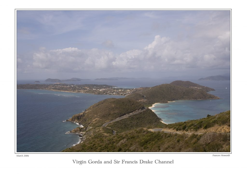 General overview of the south east end of Virgin Gorda and the islands beyond