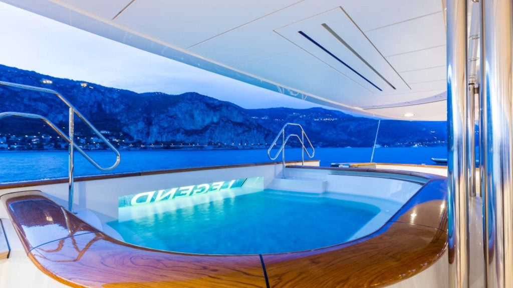Yacht swimming pool