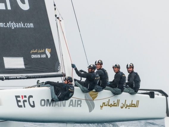 Team Oman Air ride the crest of a wave