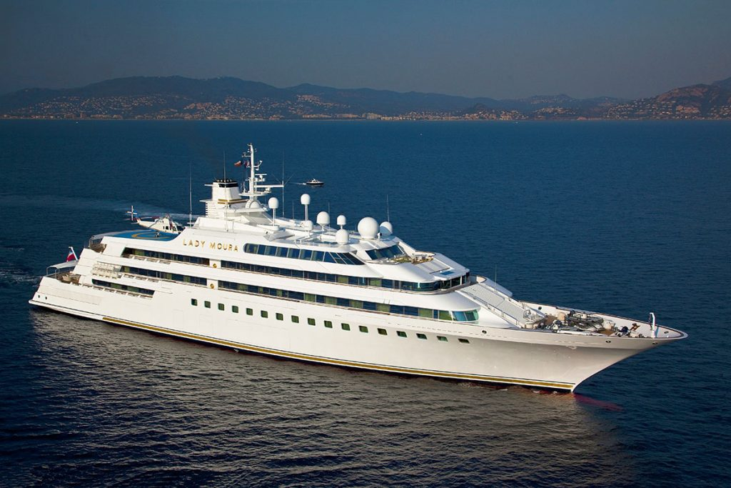 At her launch, Lady Moura was the most expensive and innovative yacht in the world.
