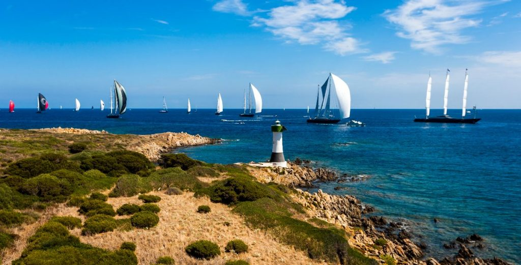 The seventh Perini Navi Cup which took place in 2018 saw a total of 12 sailing yachts set off for the first of three days of regattas in the event,