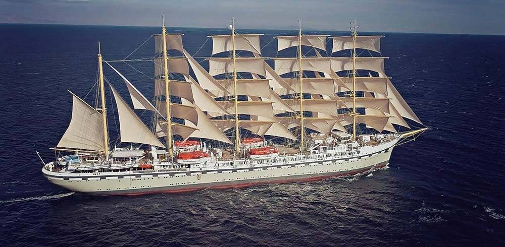 Beginning in the Spring of 2021, the newly created Tradewind Voyages will offer sailings aboard Golden Horizon, a 272 passenger five-masted barque.