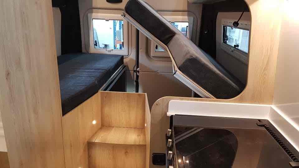electric lift campervan bed