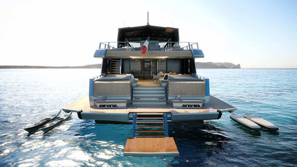 Providing a ground-breaking 37-square-metre owner's suite in the bow and delivering up to 50% more living space than traditional yachts of its length