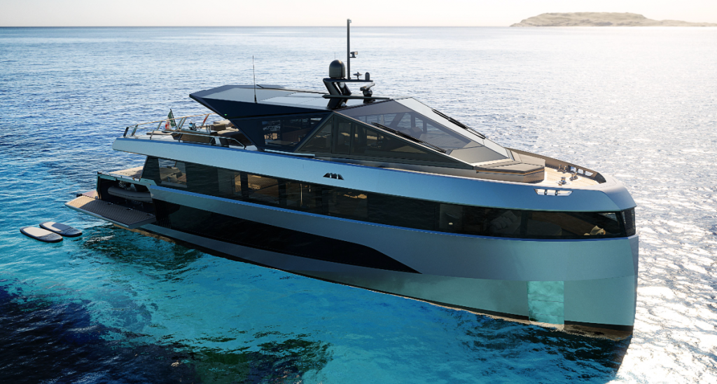 The 200 gt yacht can be registered under 24 metre load line length