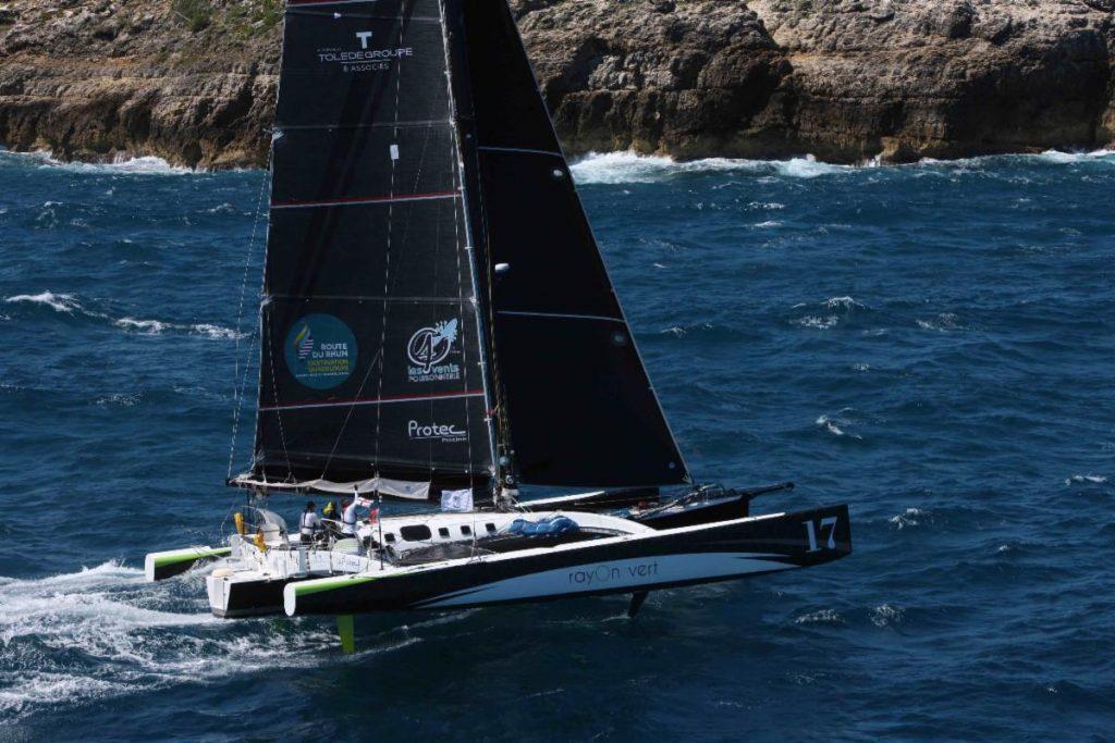 Oren Nataf's Multi50 Rayon Vert, skippered by Alex Pella