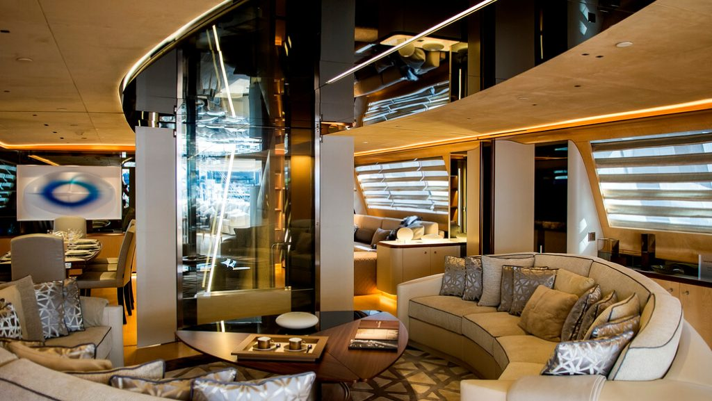 Picking up the pieces of interior furniture at Perini Navi