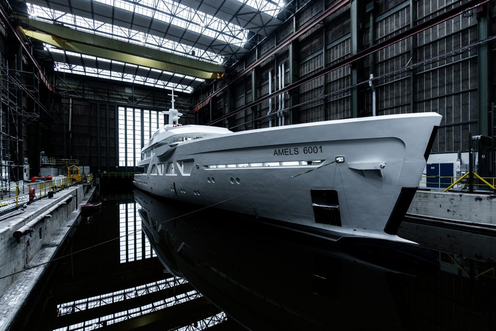 The first Amels 60 will feature an owner-specified colour scheme