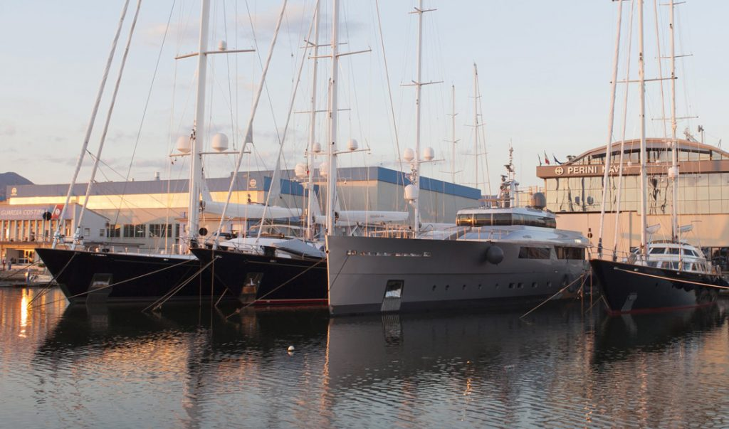 Who will be picking up the pieces of the recently bankrupted Perini Navi shipyards?