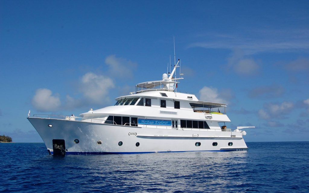 Heritage Explorer, a 30 metre expedition yacht capable of carrying up to 18 guests