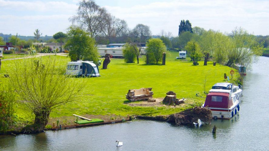 Campsite at Clifton Hampden