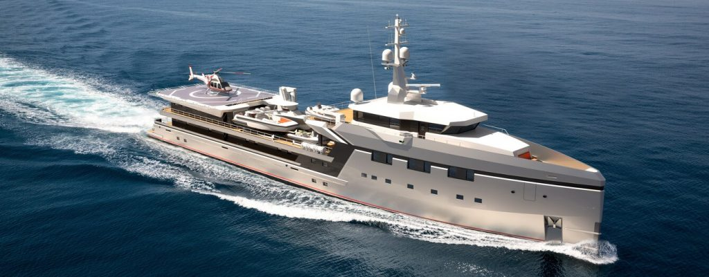 Damen YS7512 a support yacht for Jeff Bezos